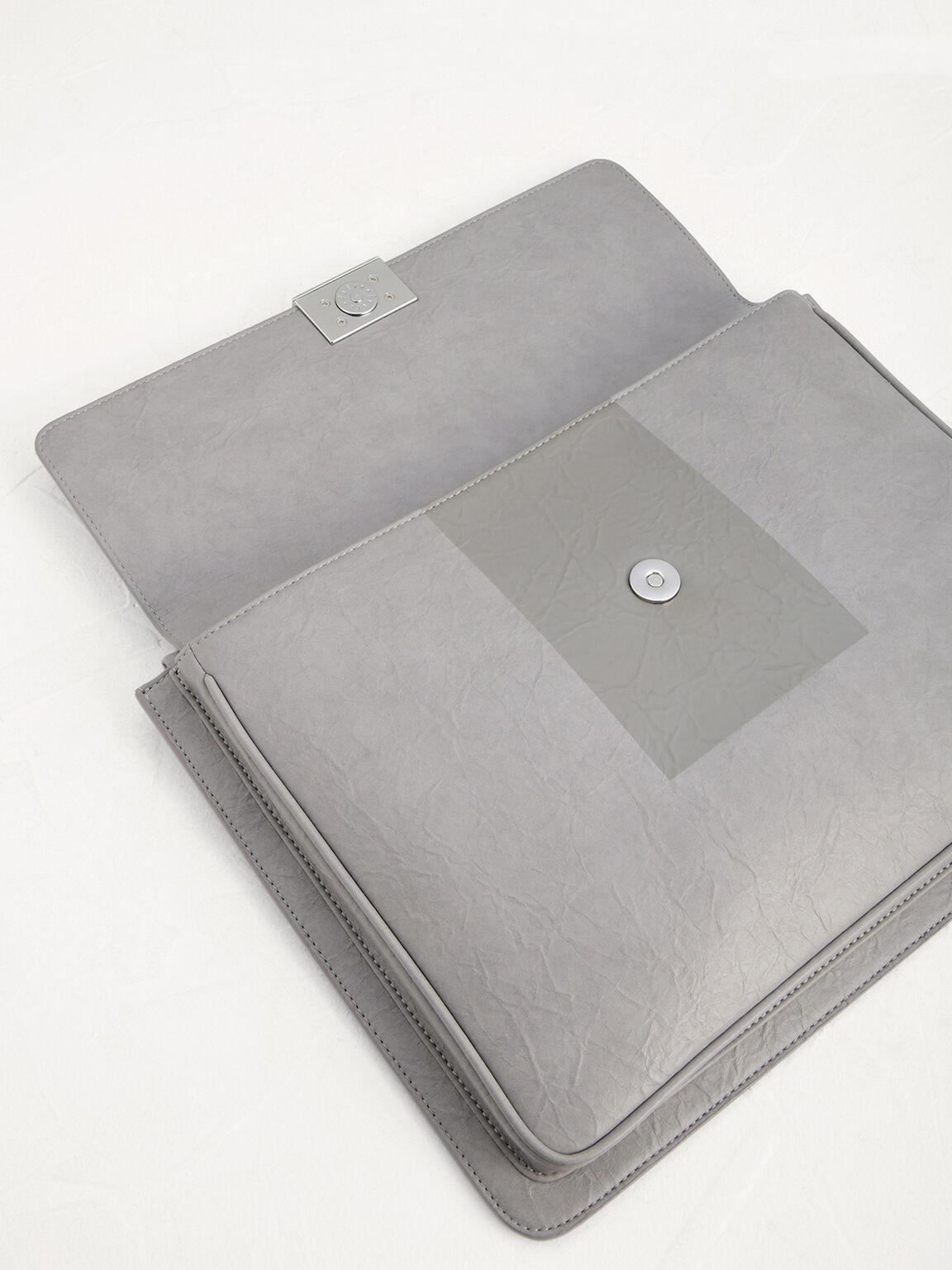Wrinkle-Effect Portfolio, Light Grey, hi-res