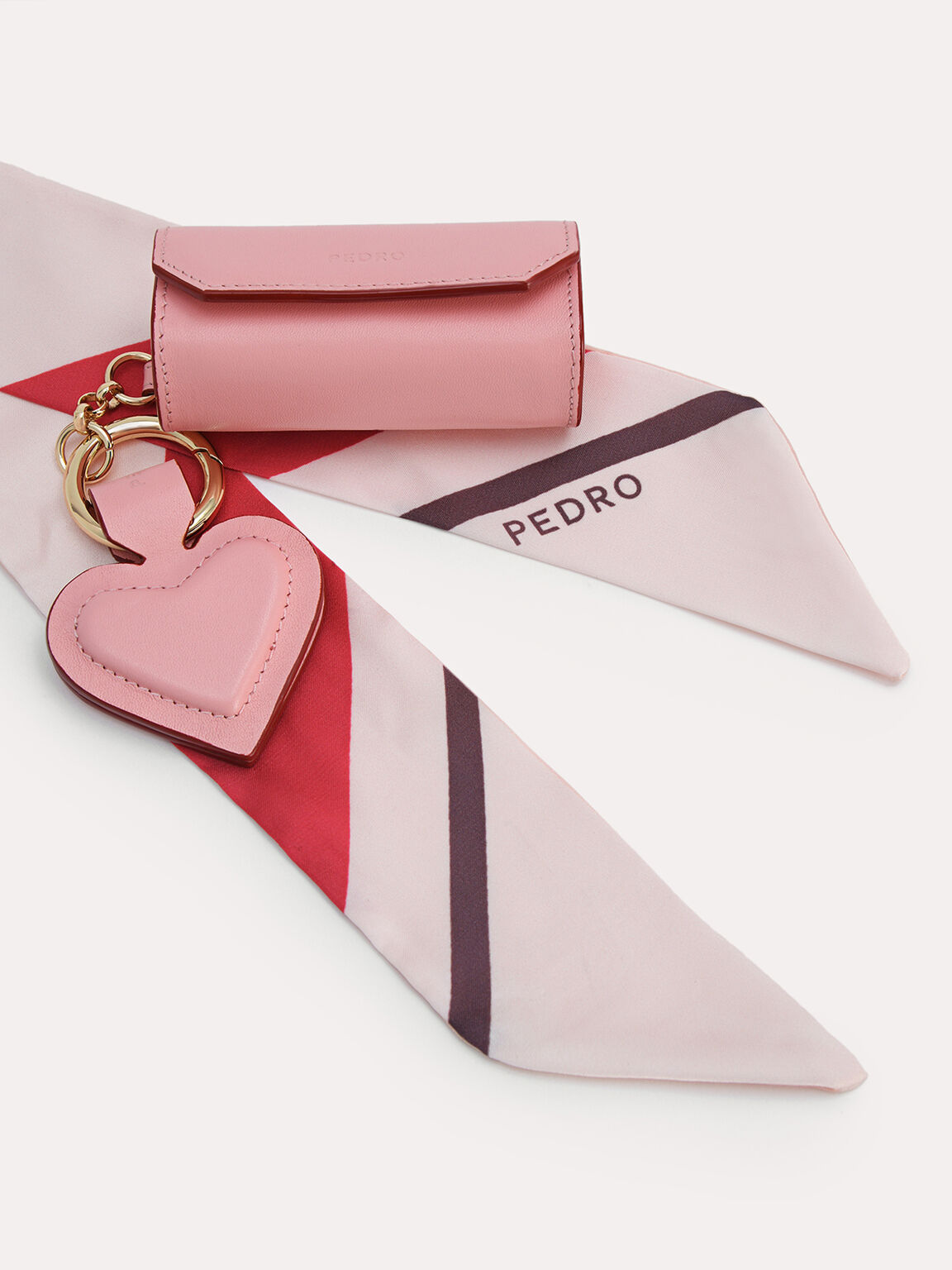 Mini Leather Pouch, Pink, hi-res