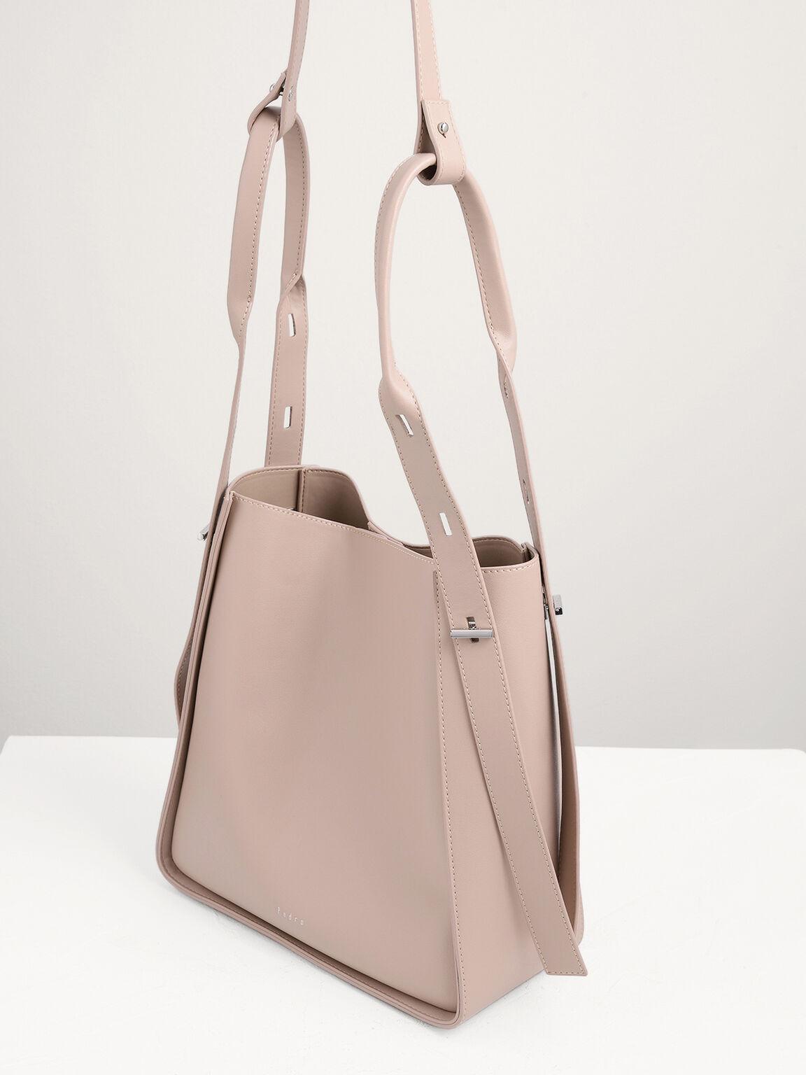 Duo-Carry Hobo Bag, Nude, hi-res