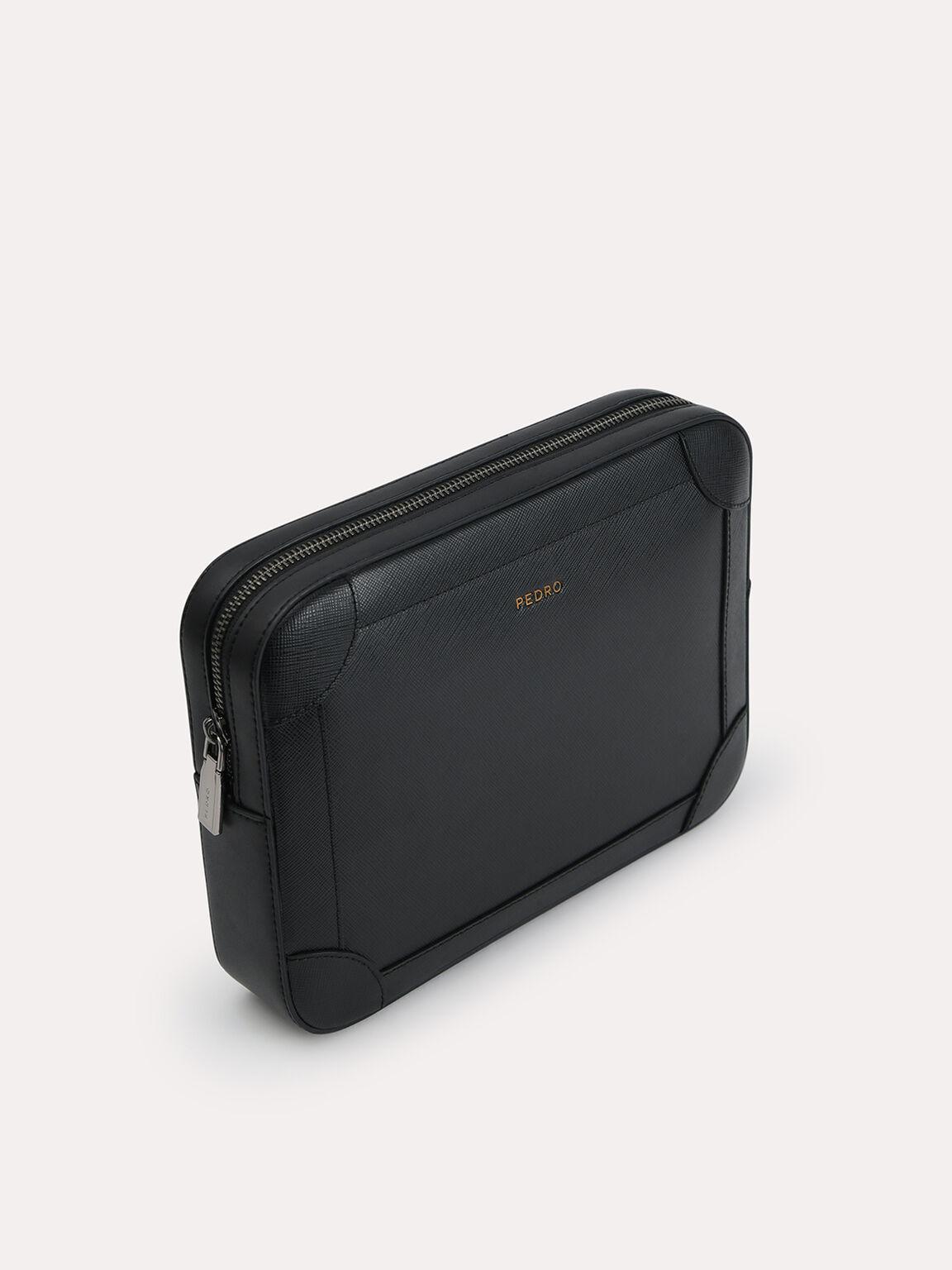 兩用休閒手拿包, 黑色, hi-res