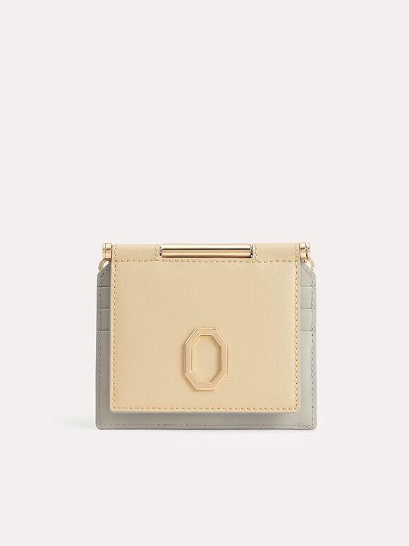 Leather Bi-Fold Cardholder, Sand, hi-res