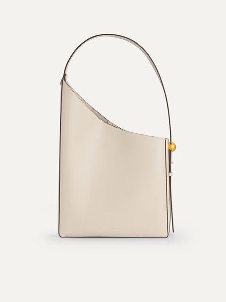 Large Asymmetrical Hobo Bag, Beige, hi-res