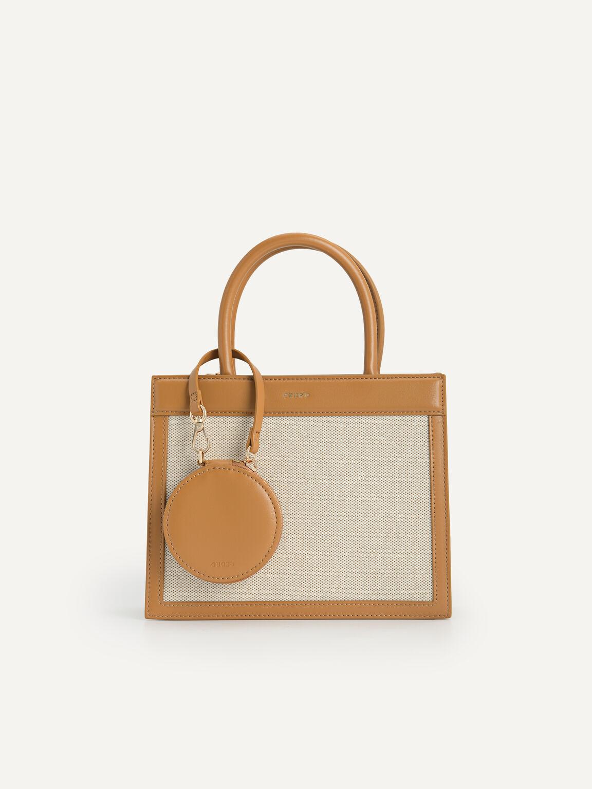 Canvas Top Handle Bag, Mustard, hi-res
