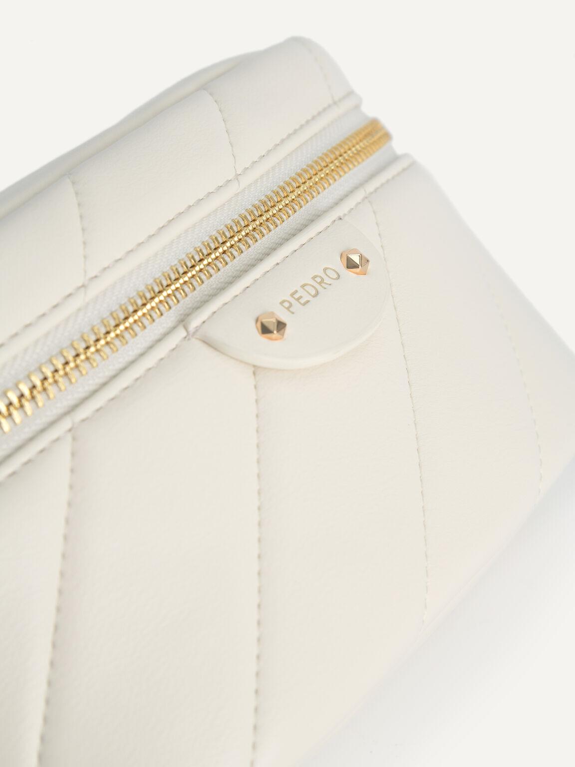 Quilted Shoulder Bag, Chalk, hi-res