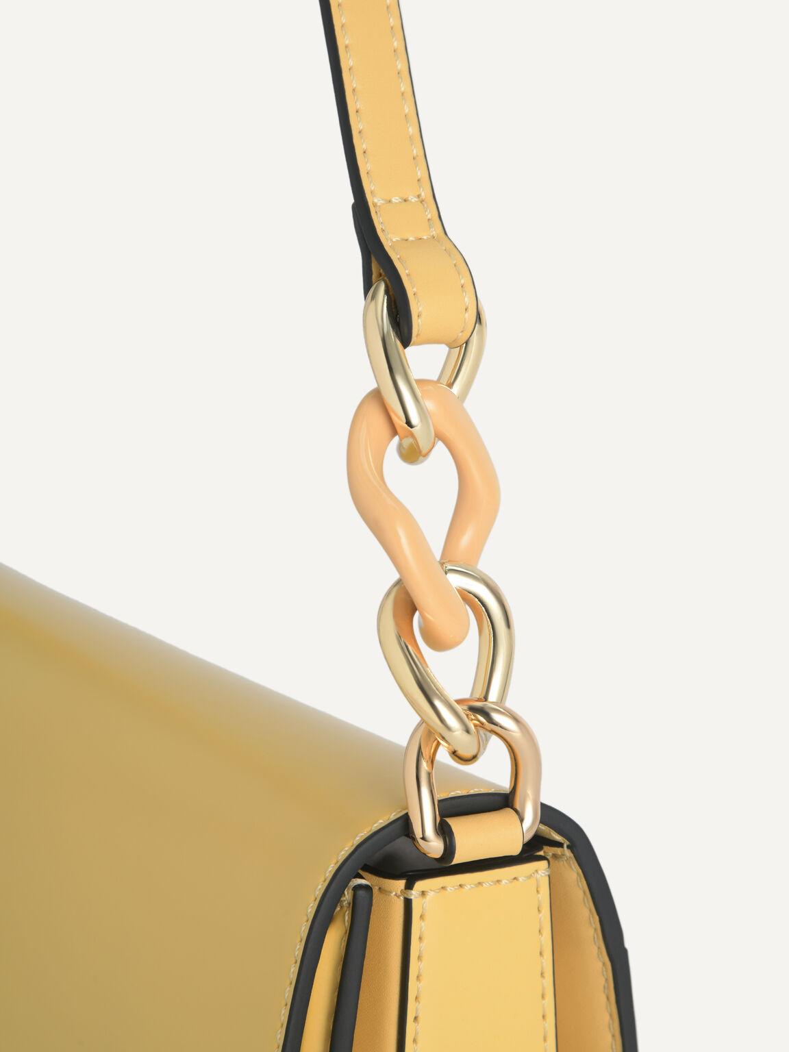 Leather Shoulder Bag, Sand, hi-res