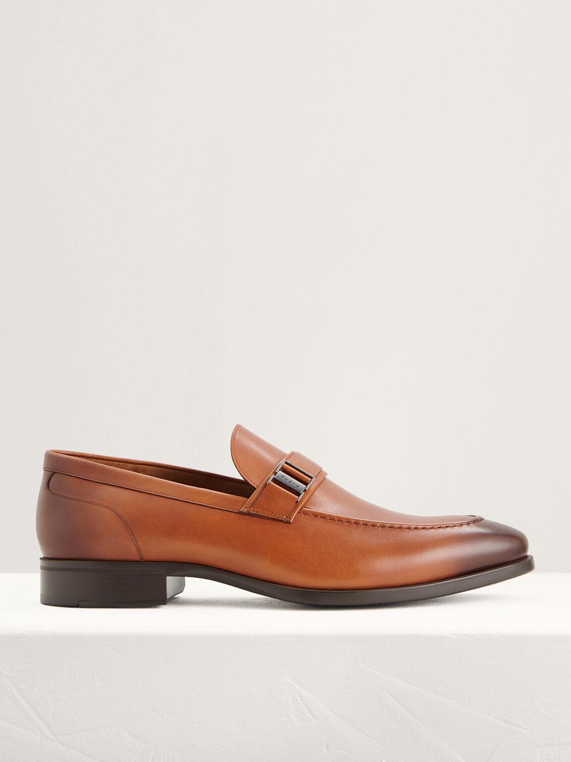Side Buckled Loafers, Cognac, hi-res