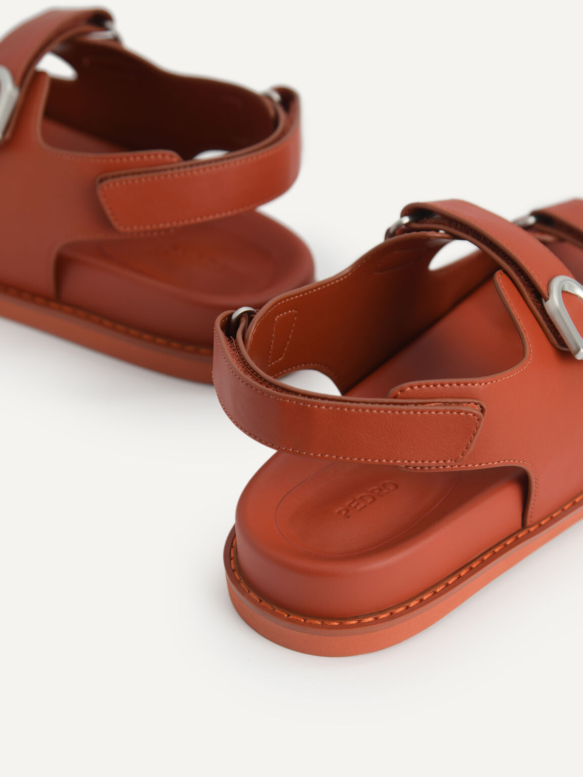 Double Strap Platform Sandals, Brick, hi-res
