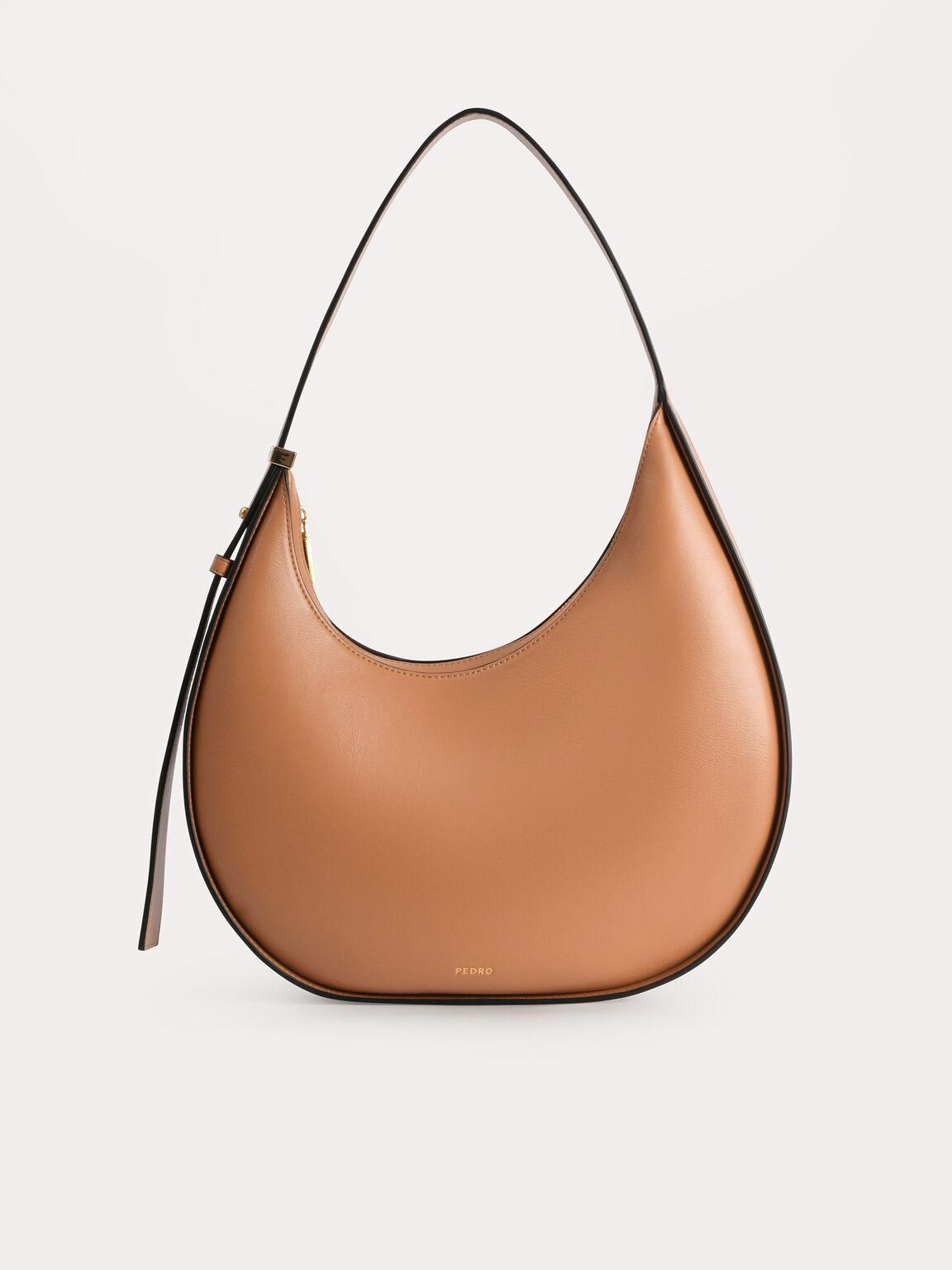 Egg Hobo Bag, Camel, hi-res