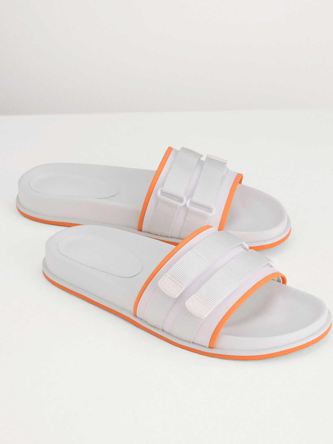 Velcro Slides in Two-Tone, White, hi-res
