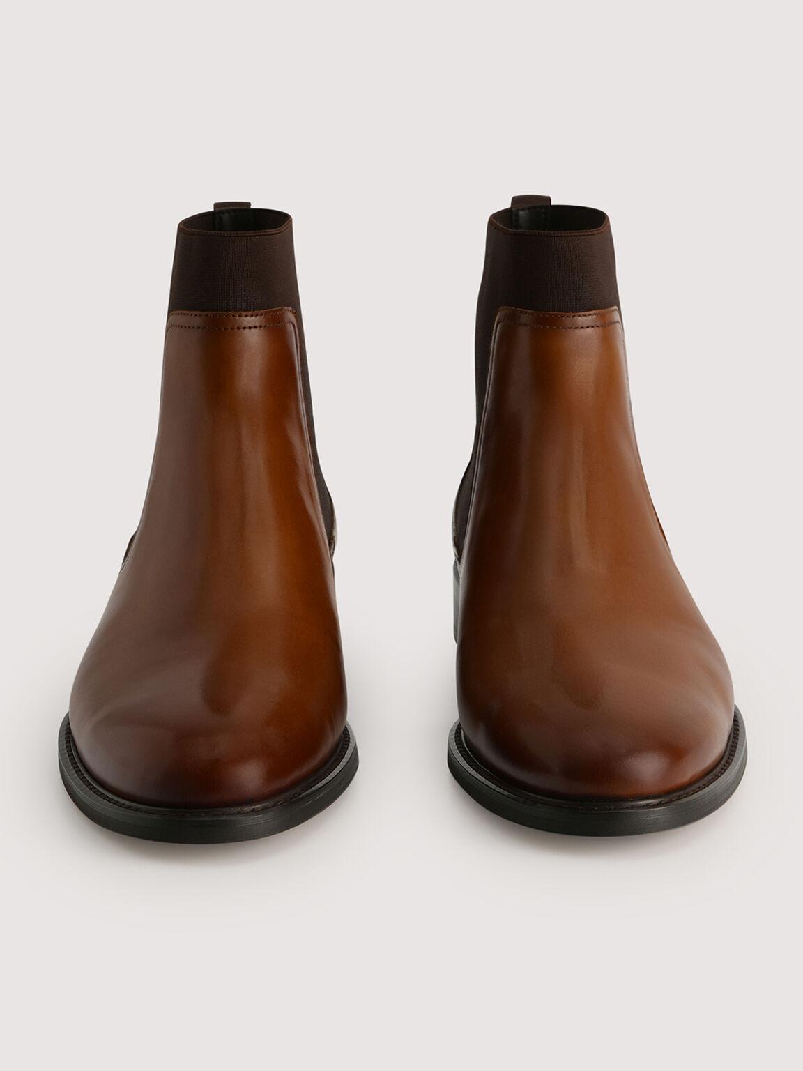 Leather Chelsea Boots, Cognac, hi-res