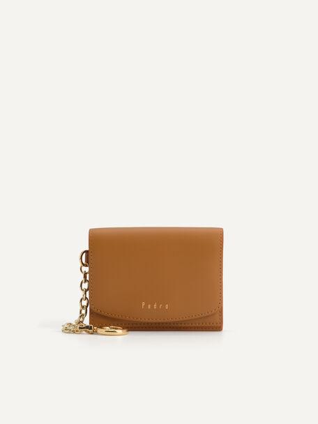 Leather Wallet, Orange, hi-res