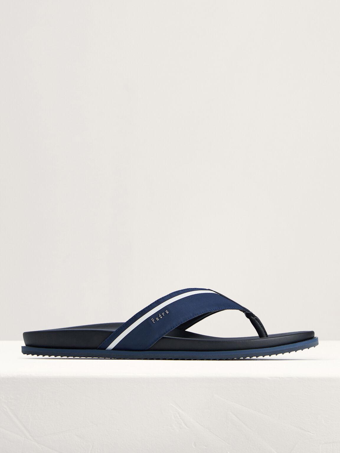 Nylon Thong Sandals, Navy, hi-res