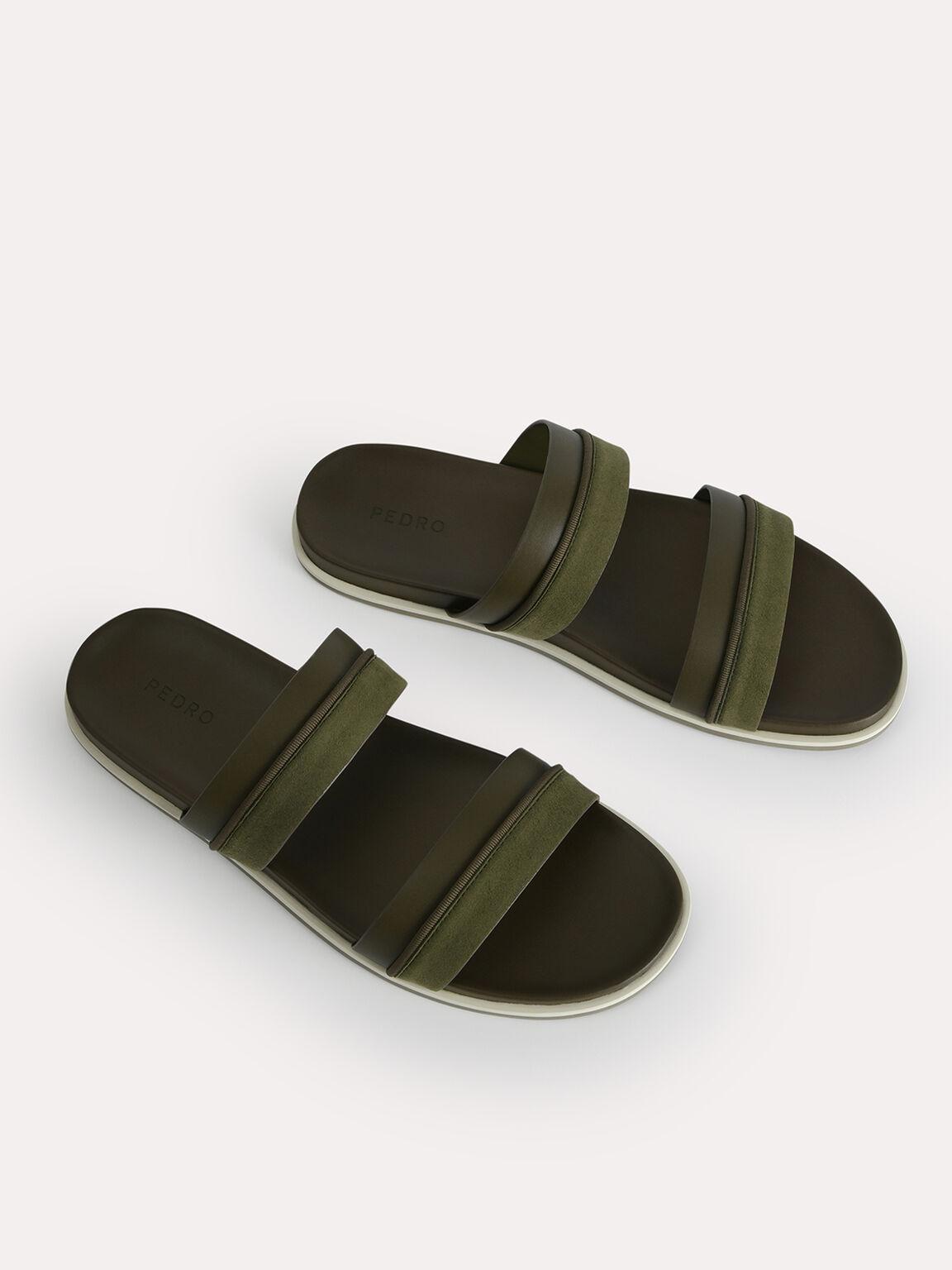 雙綁帶涼鞋, 军绿色, hi-res