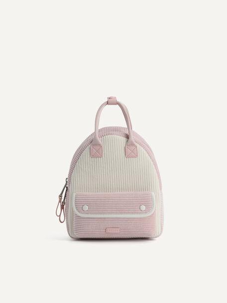 Corduroy Backpack, Light Pink, hi-res