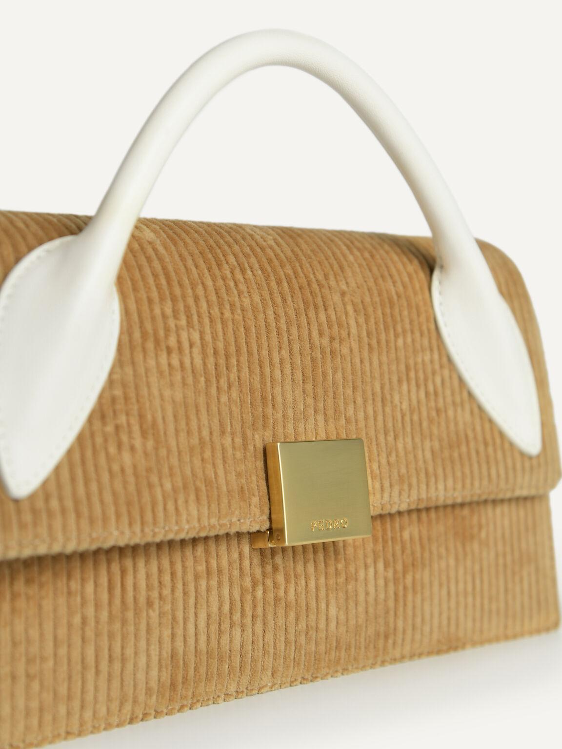 Corduroy Shoulder Bag, Sand, hi-res