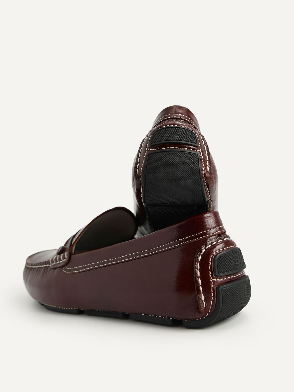 Leather Moccasins, Mahogany, hi-res