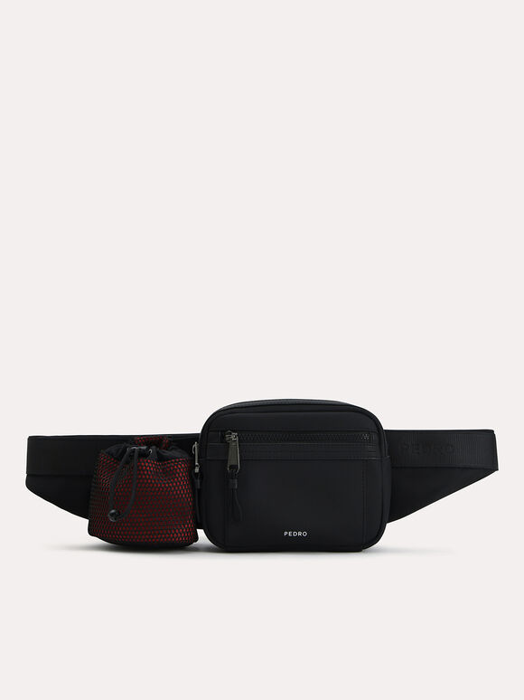 Casual Sling Pouch, Black, hi-res
