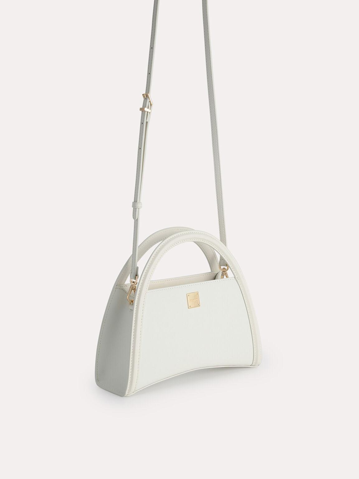 Mini Leather Shoulder Bag, Chalk, hi-res