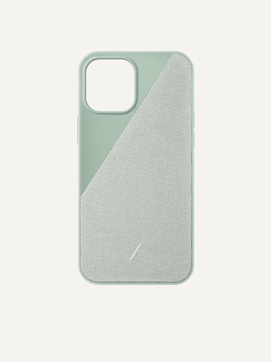 Canvas Fabric iPhone 12 Max Pro Case, Sage, hi-res
