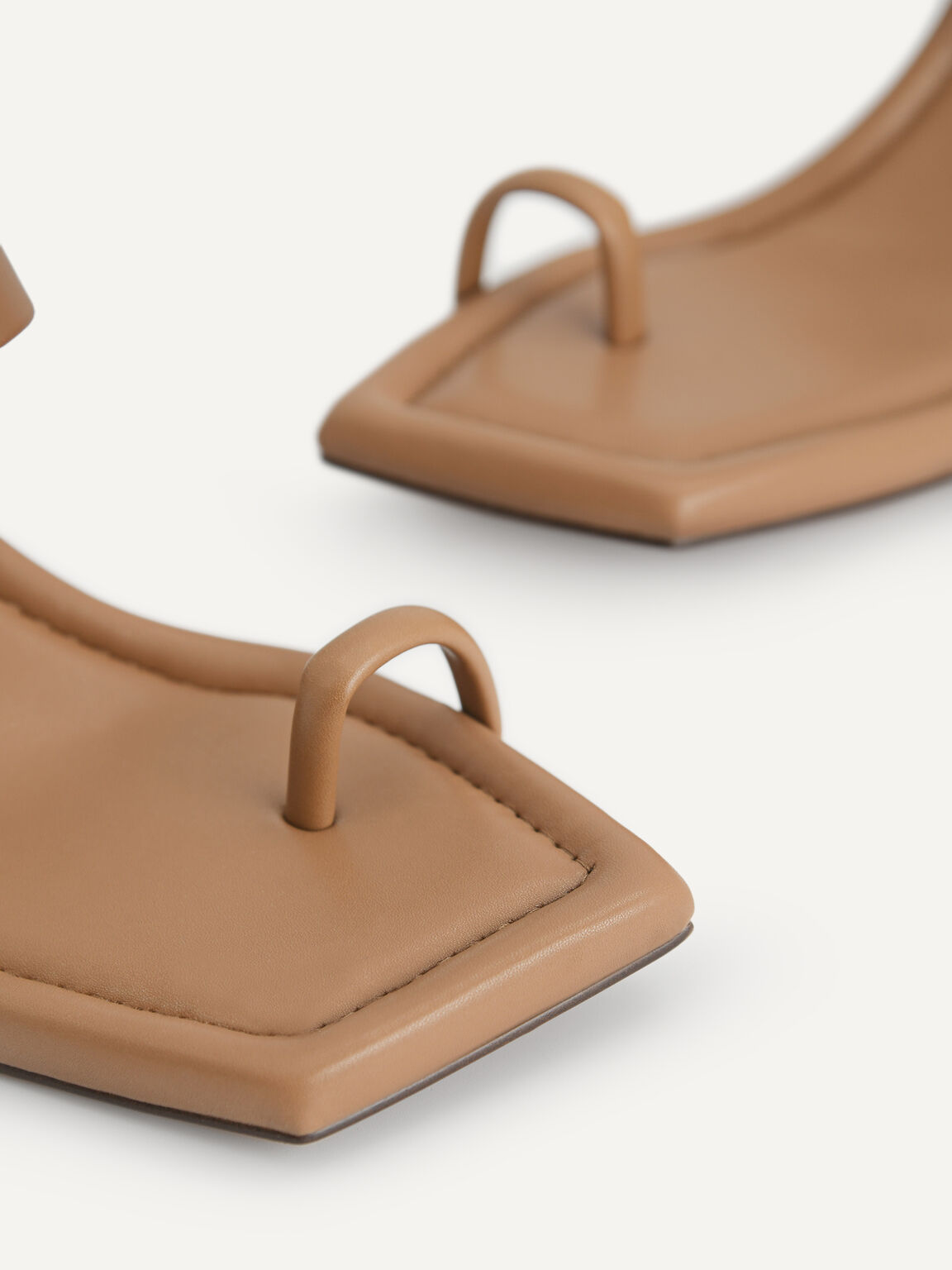 綁帶露趾高跟涼鞋, 棕色, hi-res