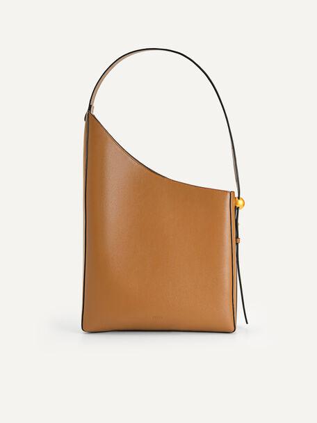 Large Asymmetrical Hobo Bag, Camel, hi-res
