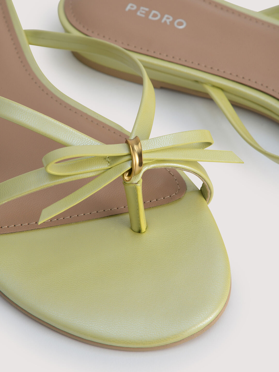 Strappy Thong Sandals, Light Green, hi-res
