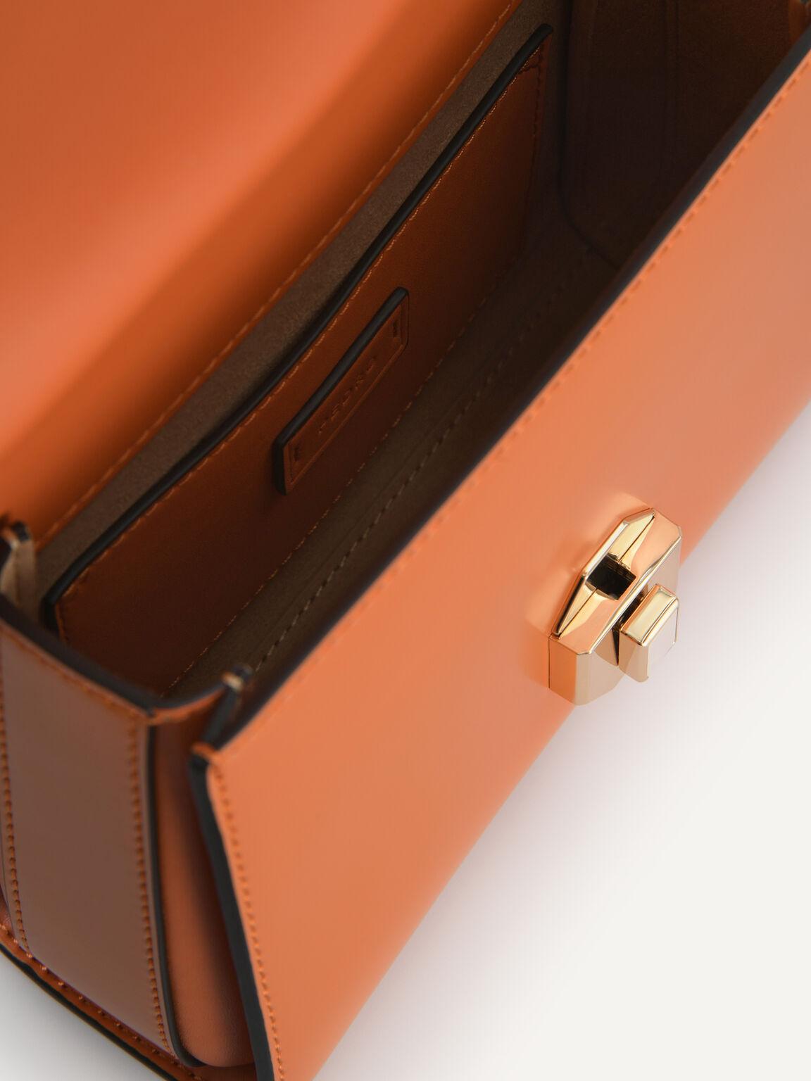 Leather Shoulder Bag, Cognac, hi-res