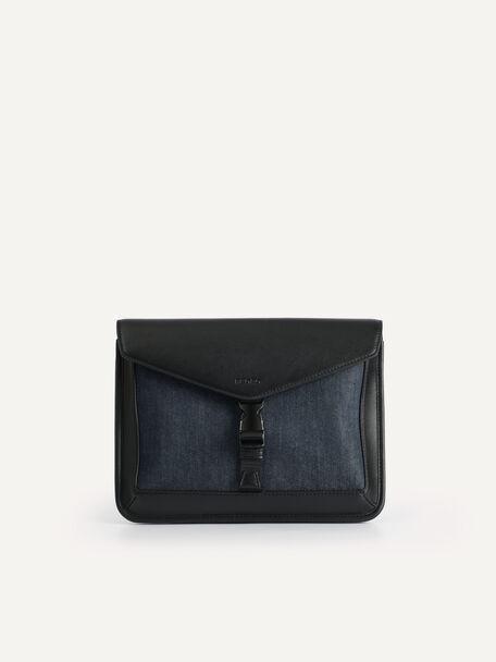 Envelope Sling Bag, Black, hi-res