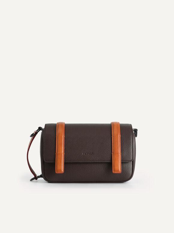 Casual Messenger Bag, Brown, hi-res