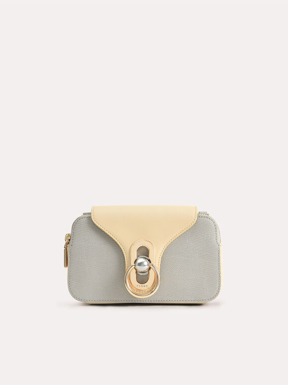 Mini Leather Shoulder Bag, Taupe, hi-res
