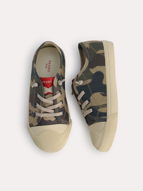 Camo-Printed Sneakers, Multi, hi-res