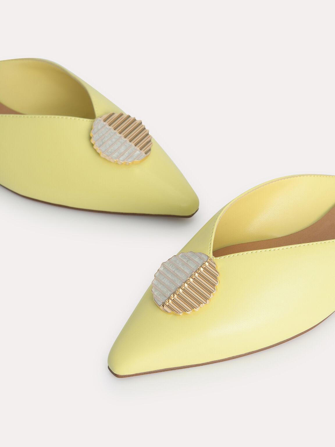 Embellished Mules, Yellow, hi-res