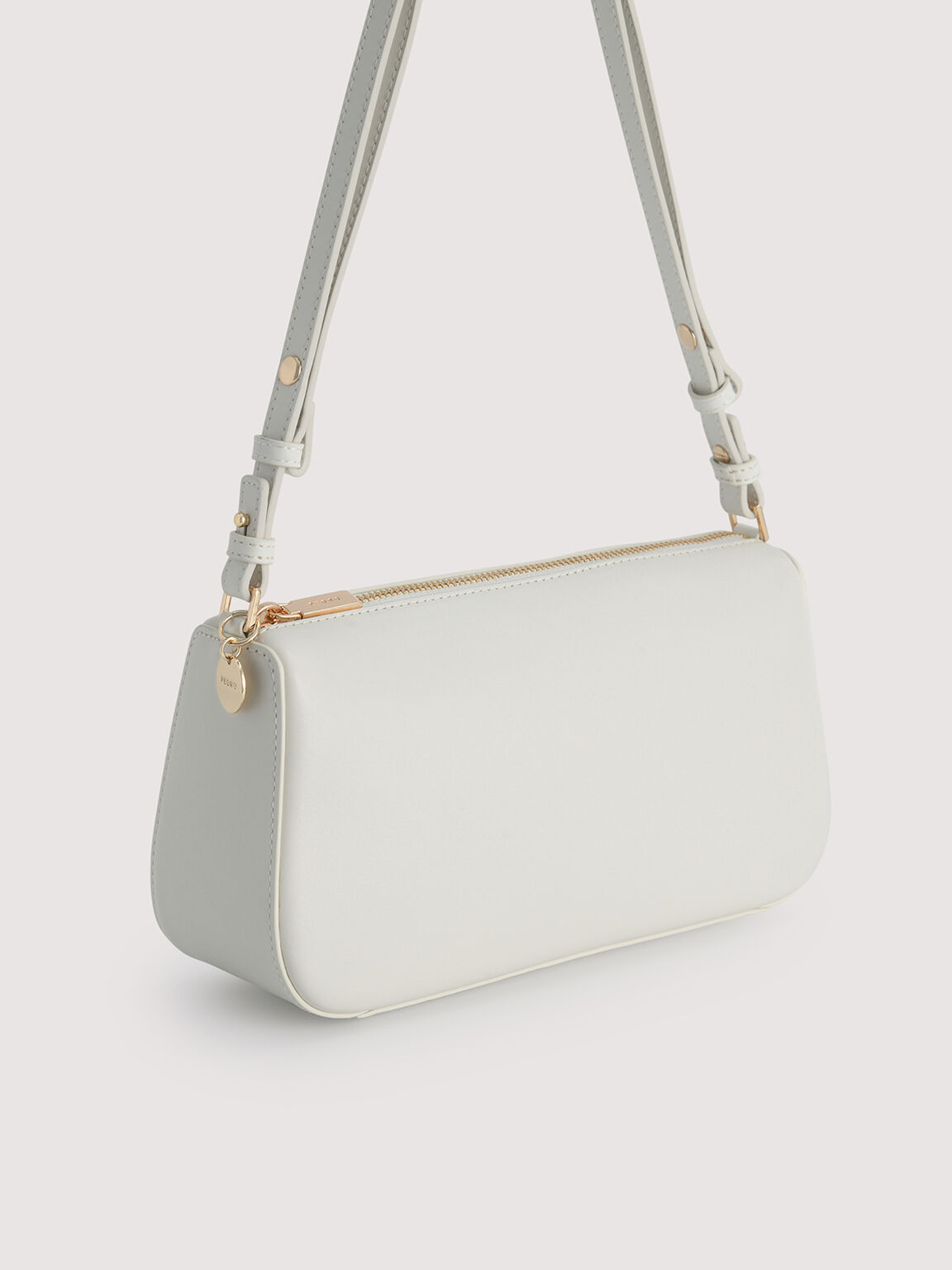 Leather Top Handle Bag with Pearl Detailing, Chalk, hi-res