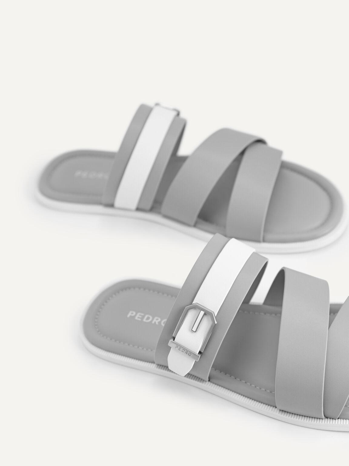 Strappy Sandals, Grey, hi-res