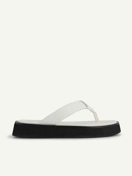 Thong Flatform Sandals, Chalk, hi-res