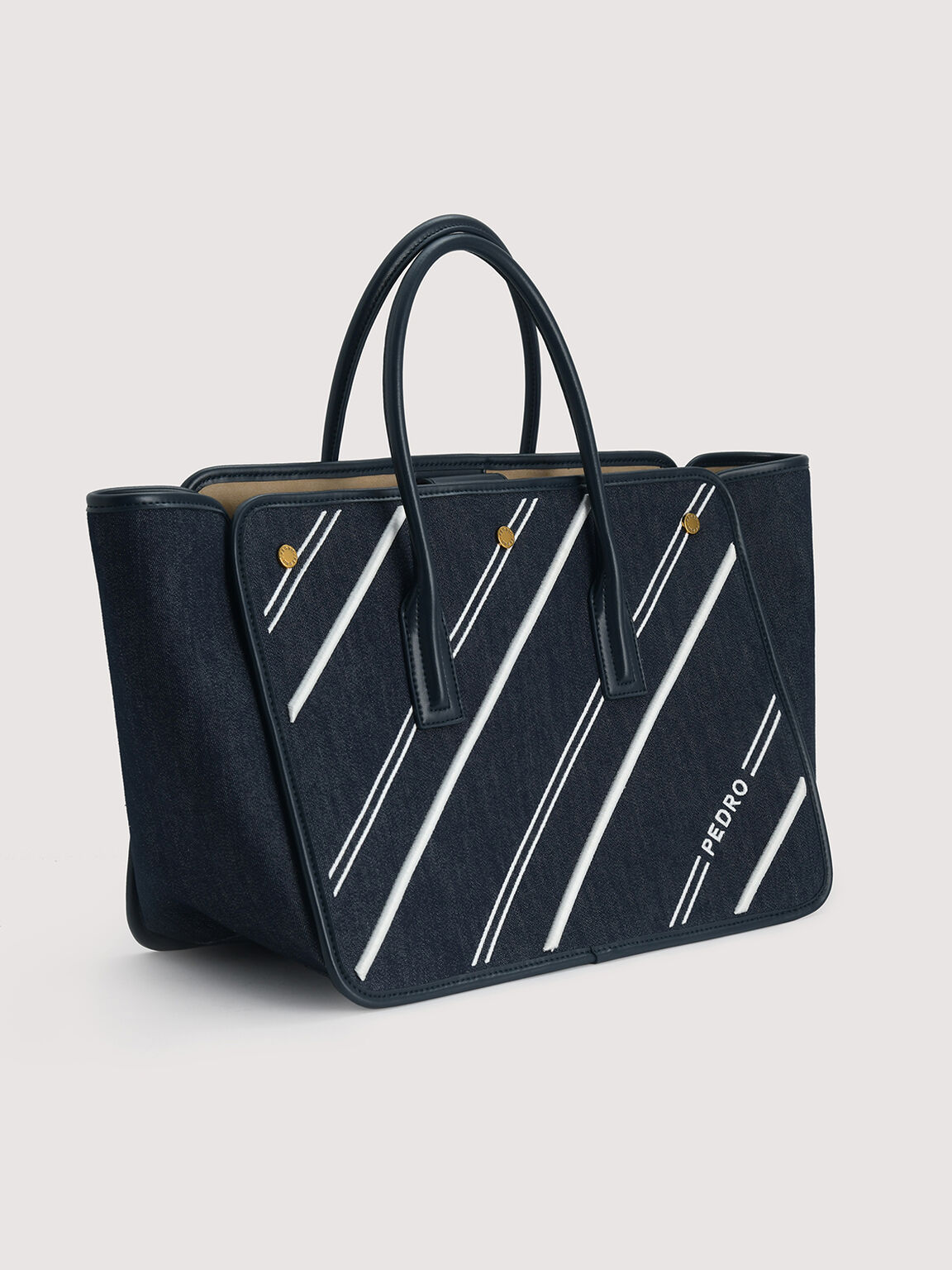 Sustainable Tote Bag, Navy, hi-res