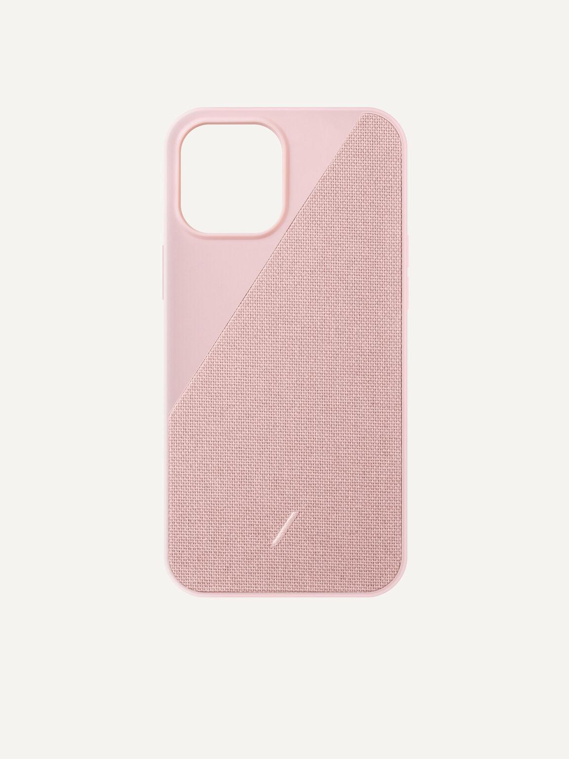 Canvas Fabric iPhone 12 Max Pro Case, Rose, hi-res