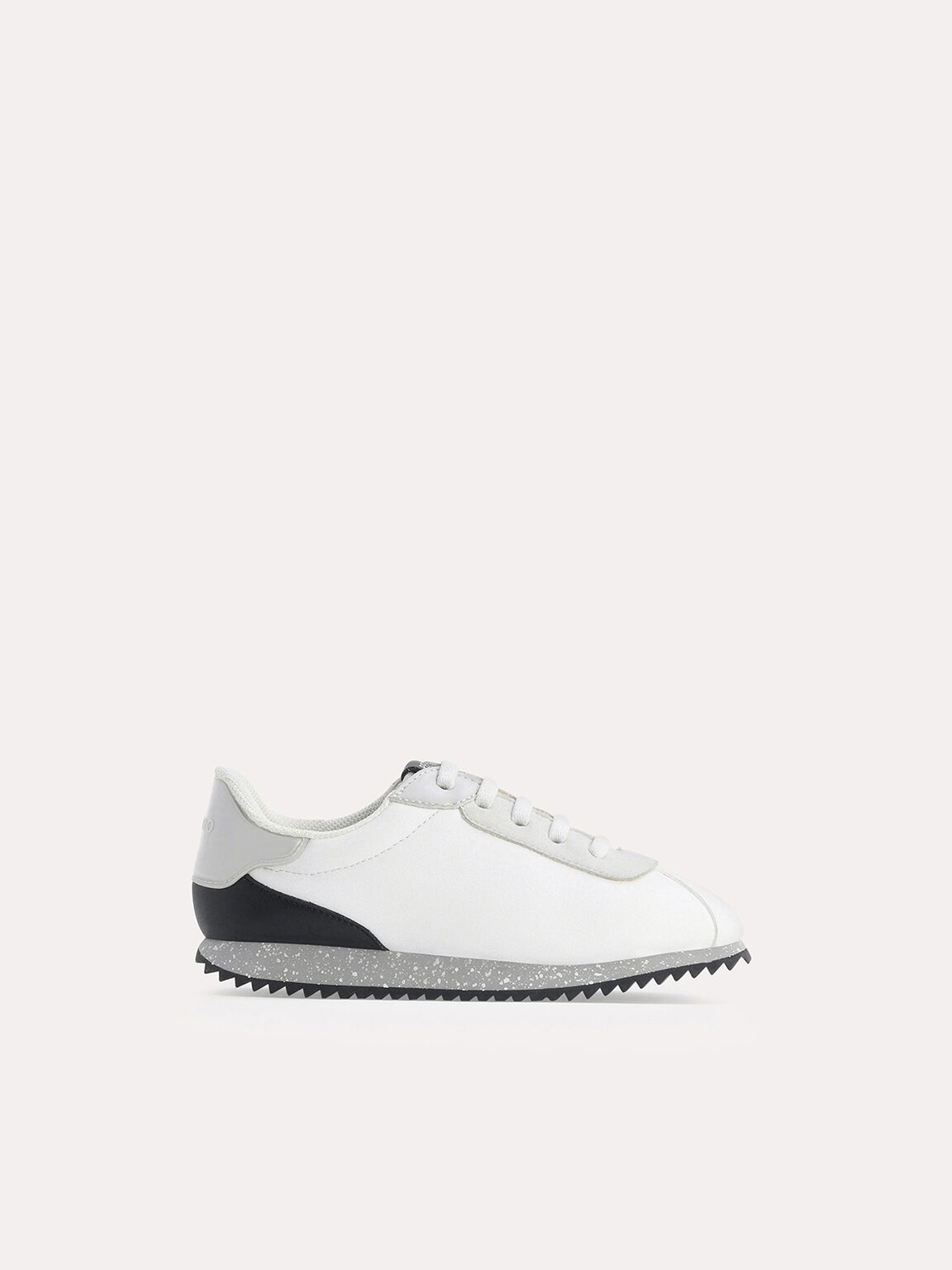 Speckled Monochromatic Sneakers, White, hi-res