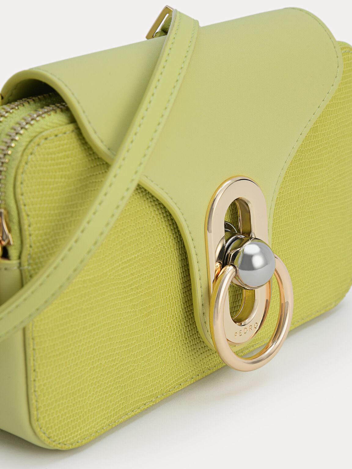 Mini Leather Shoulder Bag, Light Green, hi-res