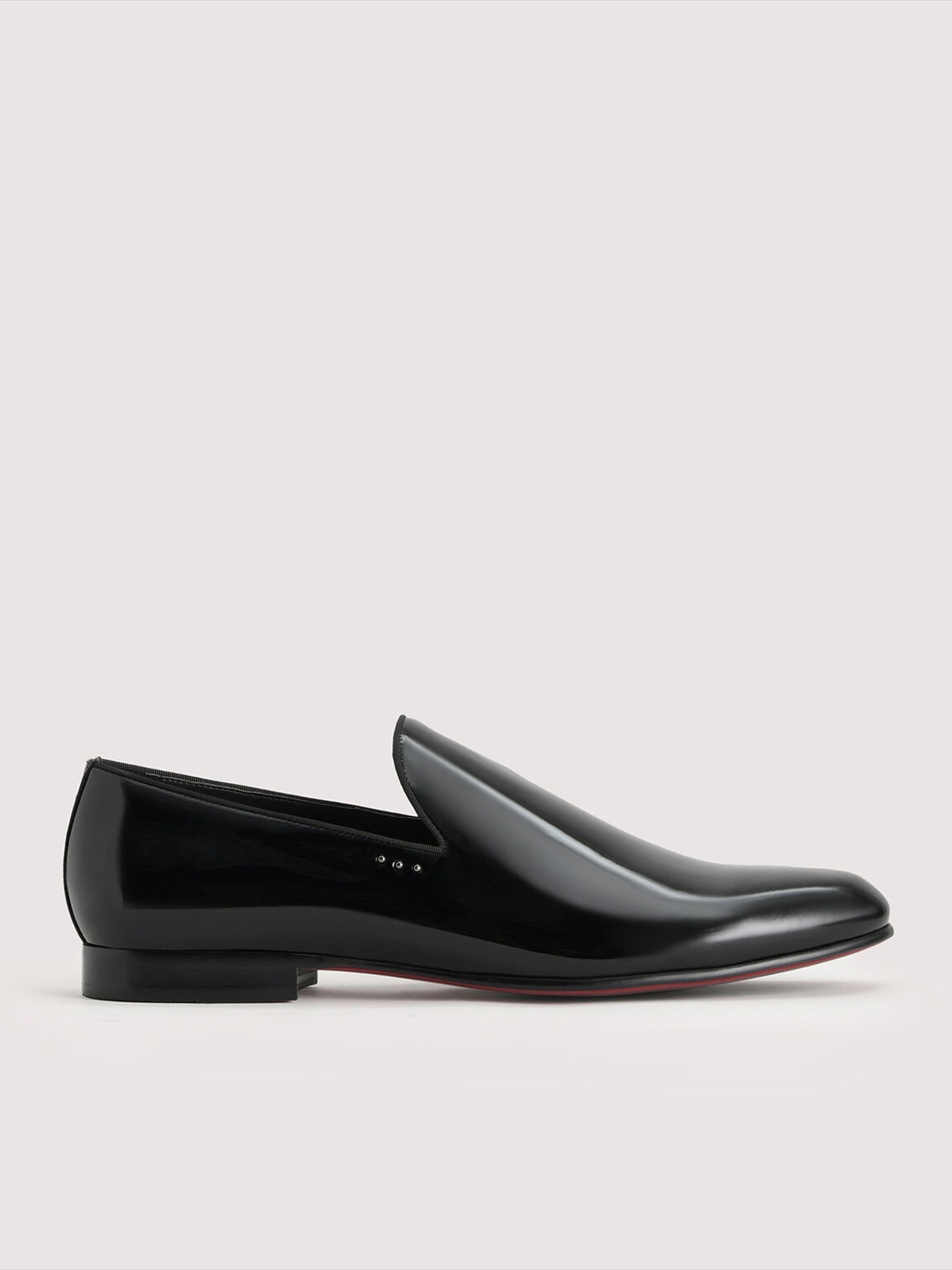 Patent Leather Loafers, Black, hi-res