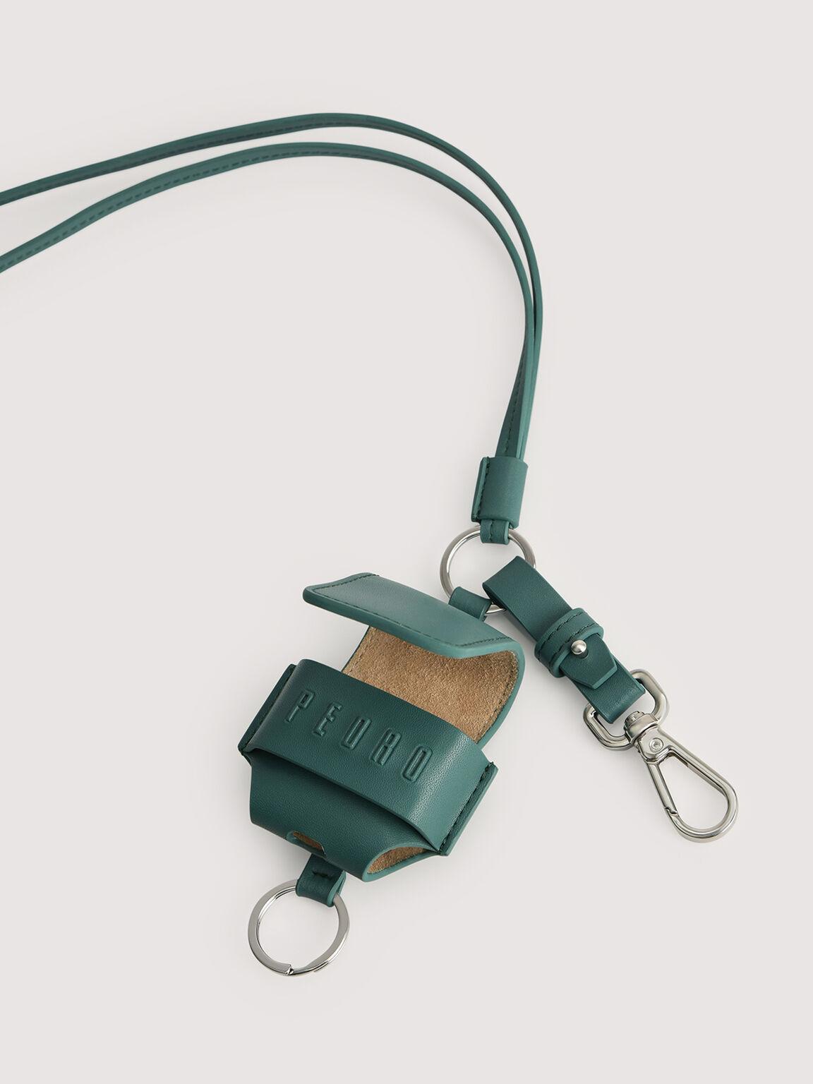 Leather Airpod Case, Dark Green, hi-res