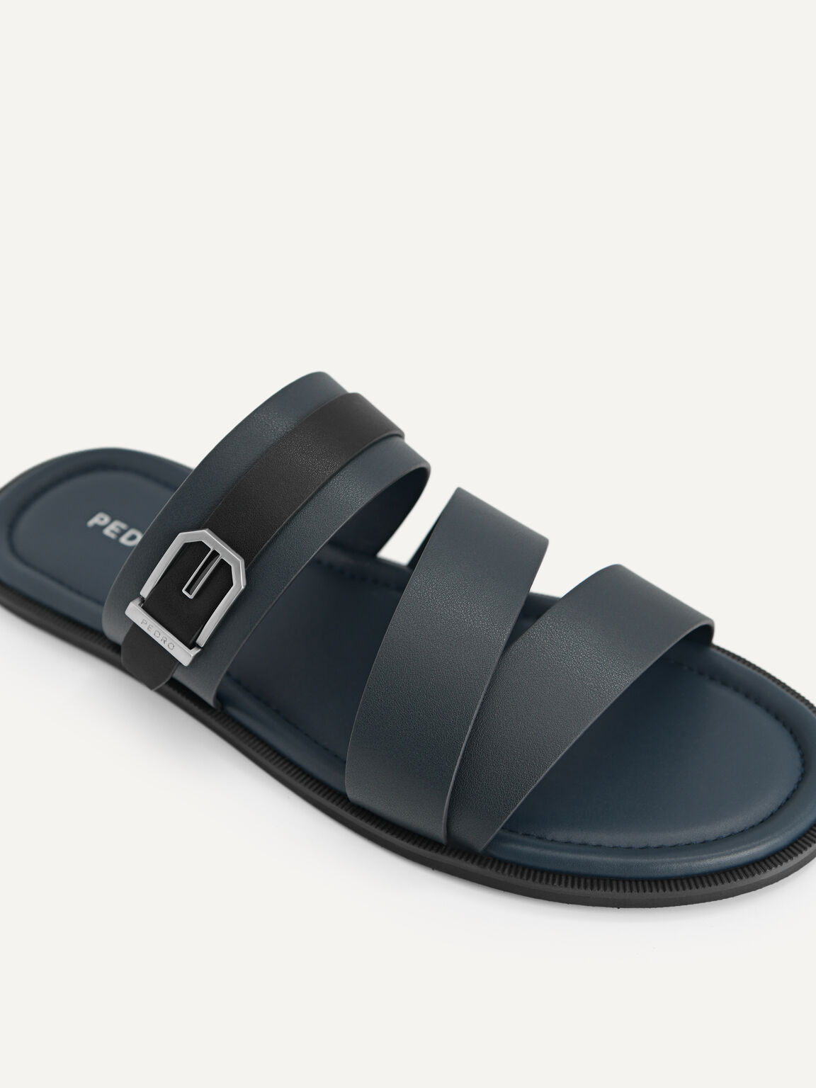 Strappy Sandals, Navy, hi-res