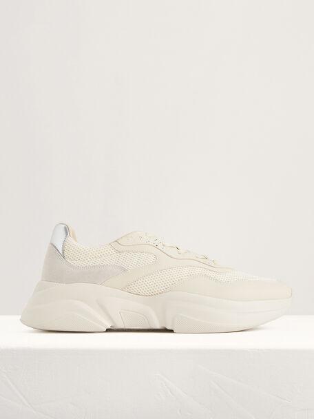 Chunky Suede Sneakers, Beige, hi-res