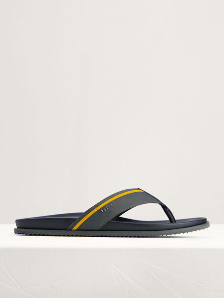 Nylon Thong Sandals, Dark Grey, hi-res
