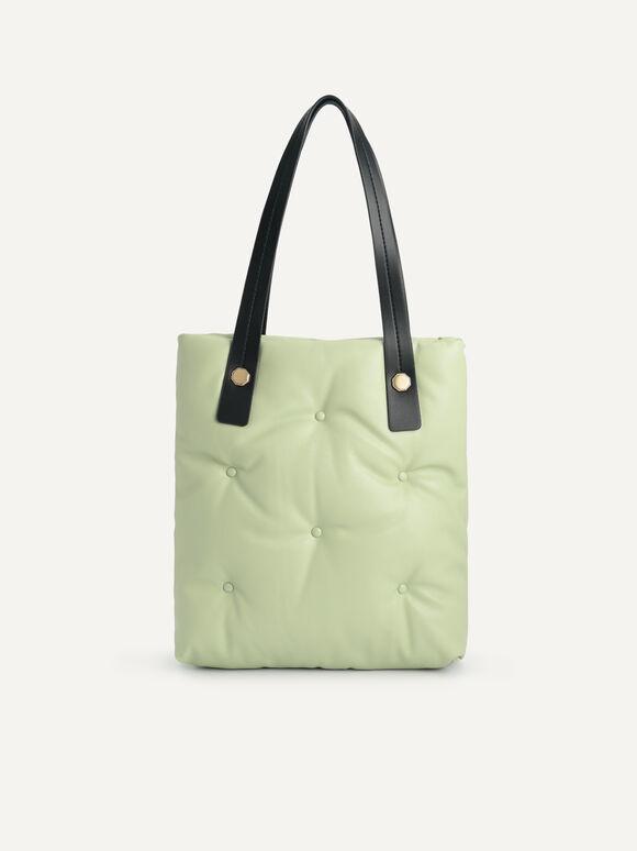 Quilted Top Handle Bag, Mint, hi-res