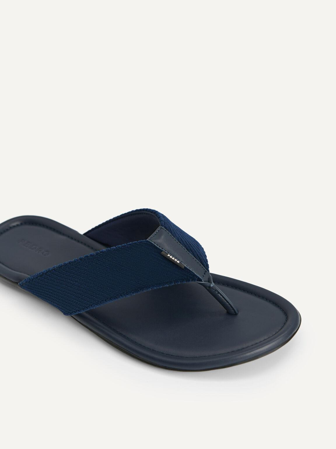 Corduroy Thong Sandals, Navy, hi-res