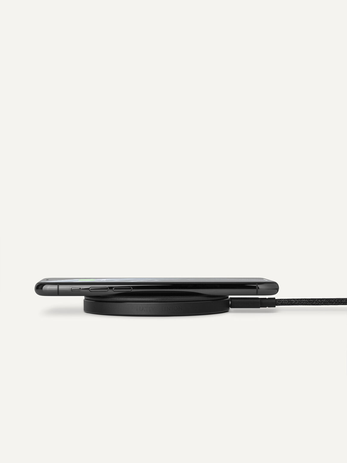 Leather Drop Wireless Charger, Black, hi-res