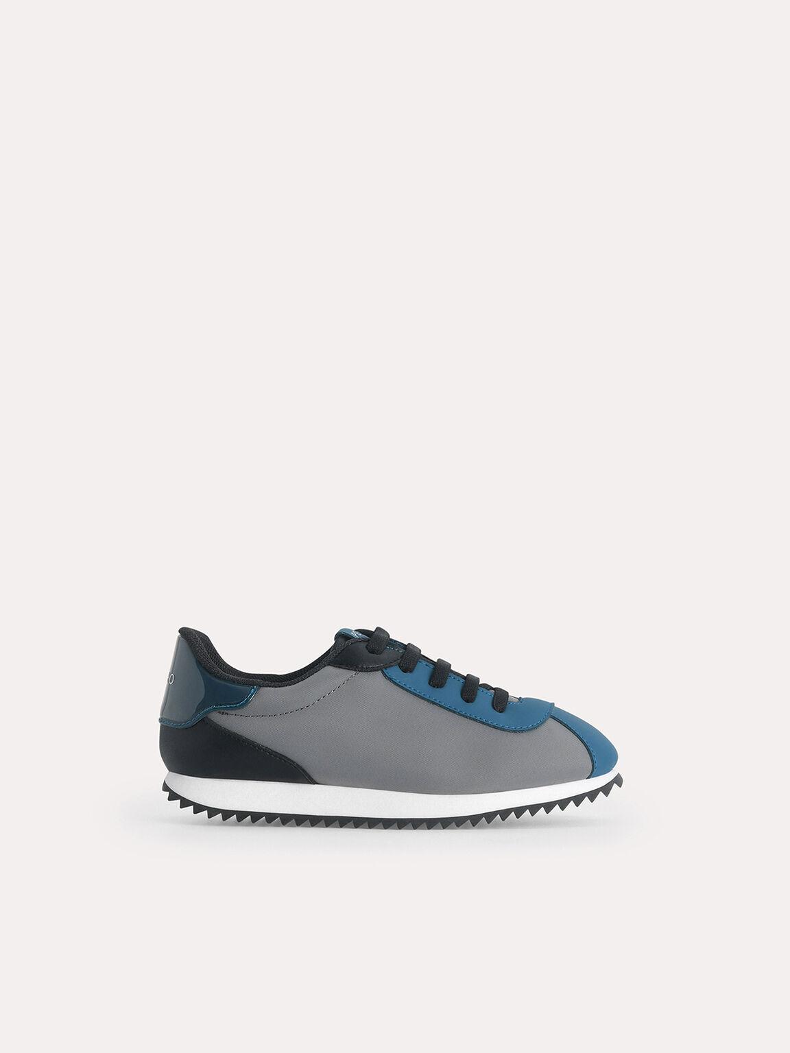 Colour Blocking Sneakers, Dark Grey, hi-res