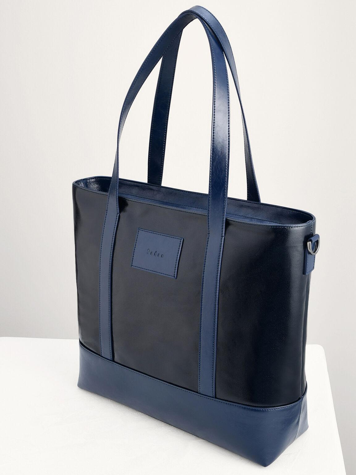 Casual Tote Bag, Navy, hi-res