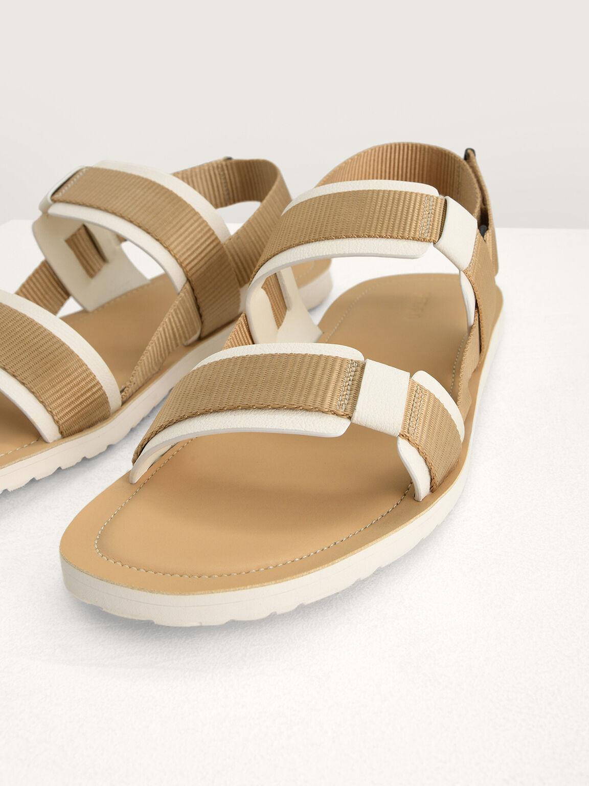 Slingback Sandals, Camel, hi-res